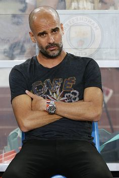 Manchester City's manager Pep Guardiola looks on during the 2016 International Champions Cup match between Manchester City and Borussia Dortmund at...