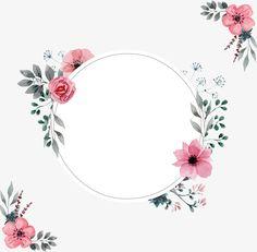 Un borde rosa del agua, Vector PNG, Acuarela De Plantas, Pintado A Mano De Las Plantas PNG y Vector