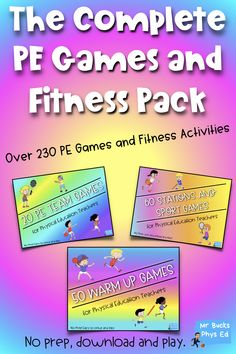 Physical Education - The Essential PE Games and Stations Pack - Carri Craghead Physical Education Activities, Group Activities, Health Education, Teacher Tools, Teacher Resources, Ed Game, Warm Up Games, Elementary Pe, Pe Lessons