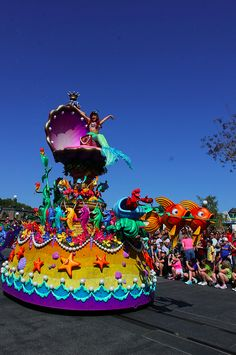 Check out the new parade pics! Festival of Fantasy Parade debuted March 9, 2014 at Disney's Magic Kingdom. Ariel!
