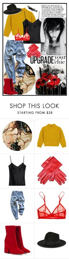 """""""chic"""" by jmtothemusic ❤ liked on Polyvore featuring Comme Moi, Galvan, Levi's, Only Hearts, Maison Margiela and Yves Saint Laurent"""