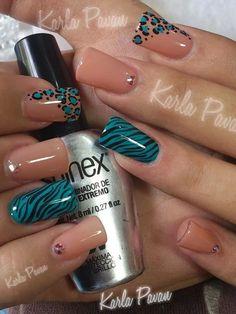 Nail Shapes - My Cool Nail Designs Colorful Nail Designs, Beautiful Nail Designs, Cool Nail Designs, Acrylic Nail Designs, Acrylic Nails, Nail Factory, Zebra Nail Art, Luxury Nails, Fabulous Nails