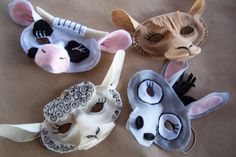 Nativity Animal Masks for Christmas Plays, Bible Stories, Creche', for Children or Adults
