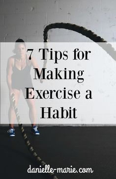 Want to get in shape for the summer? Exercise  can often be a challenge, but it is something you can fit into your lifestyle. Here are some tips to get you into a workout habit!
