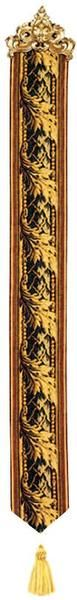 Woven in FranceHistory: Feuille D Acanthe, or Acanthus Leaf, is a French woven jacquard tapestry bell pull. This classy and timeless design is composed of a gar