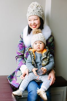 What Helen Wore Today mom baby mother child street style fashion blog