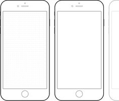Free Blank IPhone Template Interface Design Ui Ux User Iphone