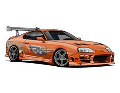 check out new work on my behance portfolio toyota supra the fast and - Fast And Furious 7 Cars Wallpapers