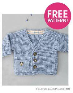 New crochet baby cardigan free pattern tutorials 16 Ideas Baby Boy Knitting Patterns Free, Baby Sweater Patterns, Baby Sweater Knitting Pattern, Cardigan Pattern, Knitting For Kids, Free Knitting, Knitting Ideas, Knitting Designs, Baby Patterns