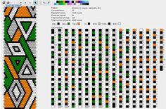 20 around Green, Orange & White Geometric