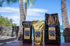 """Our Kona Coffee is hand-picked, processed and sun-dried right here in Kona on the fertile slopes of Hualalai Mountain – considered the epicenter of """"Kona Coffee"""". We take the beans from tree to roast and guarantee a cup of coffee you will love! Kona Coffee, Continental Breakfast, Sun Dried, Root Beer, Fruit Trees, Fertility, Coffee Cups, Roast, Bbq"""