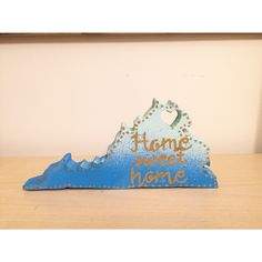 | $6 | Small hand-cut Virginia wooden plaque | Contact me for customized art of all sorts! | Scroll saw project | ART INSTA @Camilla_Creations