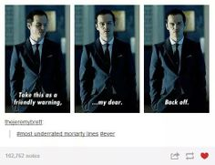 """I love this line so much, people should comment on it more than they do. X3 and he calls Sherlock """"My dear"""" i mean come on guys. XD"""