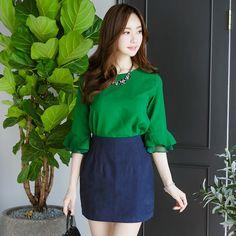 DOS SLIT ARM BL . . . #kfashion #koreanfashion #clothes #ootd #shoppingaddict #Heraposhboutique #instalove #instashop #instaclosethera #Simplestyle #glamour #beauty #gorgeous #Solidkoreanfashion #heraOfficeAttire  #Fashionladies #BeaGorgeousHERA Bell Sleeves, Bell Sleeve Top, Glamour Beauty, Ootd, Korean Fashion, Arm, Blouses, Long Sleeve, Women