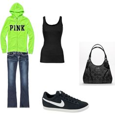 pink/green.... This is something I would wear!!