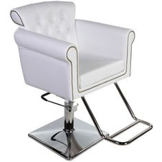 New Beauty Salon Equipment White Vintage Hydraulic Hair Styling Chair SC-06W