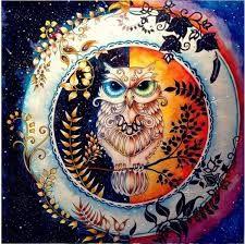 Imagini pentru enchanted forest coloring book colored