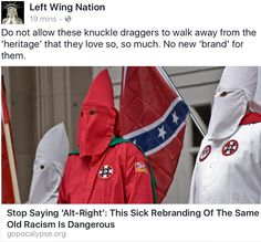 """We are not going to change the term """"racist, sexist, xenophobic people"""" to """"alt-right."""""""