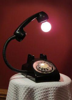 Telephone lamp
