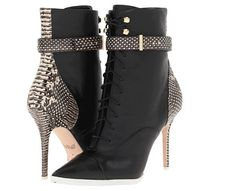 Rachel Roy Mesa snake leather upper from fall 2013 collection. Click here to buy.