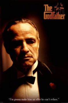 The Godfather. in sepia and awesome lighting. verified timeless classic.