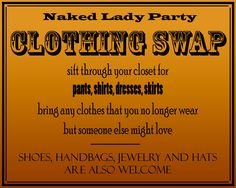 Clothing Swap/ restyle night sounds like a fun night at Sew Clothing Exchange, Clothing Swap, Swap Shop, Swap Party, Brunch Decor, Sewing School, Girls Time, Ladies Party, Party Planning