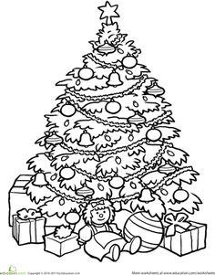 Dibujos para imprimir. Árbol de navidad para infantil