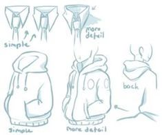 I know this will come in handy because I have a horrible time drawing hoods and shirt collars.