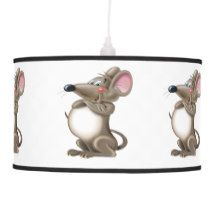 Funny wise mouse pendant lamp