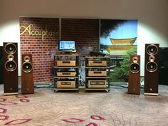 Incredible set up with Accuphase at the last Haute-Fidélité 2016 in Paris. A very special thanks to our partner Hamysound. #bassocontinuo #accuphase #hamysound #thebestornothing #madeinitaly #hautefidélité #avshow #hifishow #audiophile #highendaudio #hifi #altafedeltà #design #luxury #fostex #loudspeakers