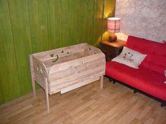lit b b cododo en bois th me toiles et lune. Black Bedroom Furniture Sets. Home Design Ideas