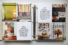 make a house scrapbook with before & after