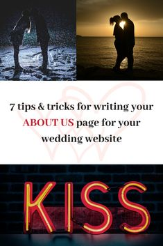 Writing Tips Freebie Wedding Kiss, Wedding Story, How We Met, About Us Page, Free Tips, Wedding Website, Wedding Anniversary Gifts, Writing Tips, Love Story