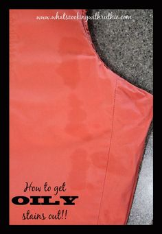 How to get OILY stains out of clothes!  The BEST tip in the world!! by whatscookingwithruthie.com #DIY #laundry