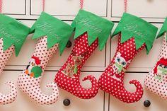 Personalizowane skarpety bożonarodzeniowe z aplikacją