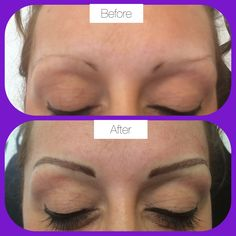 New eyebrows semi permanent make up hair stroke look