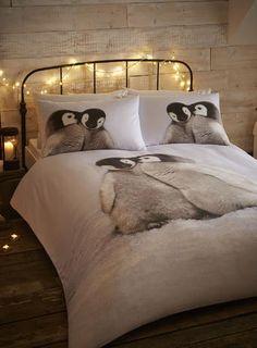 Cosy Cotton Penguin Bedding Set