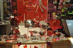 Vitrine St Valentin 2014 de Neuville Chocolat Français Nice