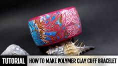 Part 1. In this video tutorial I will show you how to make beautiful cuff bracelet from polymer clay in Hidden Magic Technique using metal bracelet blank for...