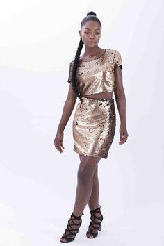 Gold Sequin Skirt, Two Piece Skirt Set, Sequins, Skirts, Collection, Dresses, Fashion, Vestidos, Moda