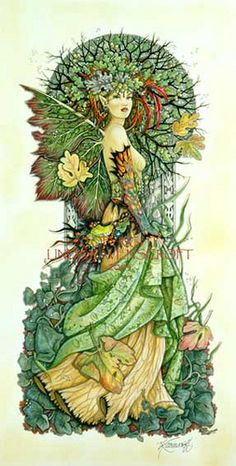 Tree Spirit 1 by Linda Ravenscroft by Fantasy Art, via Flickr