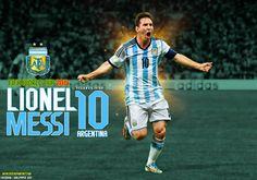Lionel Messi Argentina World Cup 2014 Wallpaper by jafarjeef.deviantart.com on @deviantART