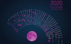 'Calendario lunar luna rosa' by ArtlandStudio Moon Phases, Moon Calendar, Free Calendar Template, Moon Stages, Calendar 2019 Printable, Calendar, Calendar 2020, Template Printable, New Moon