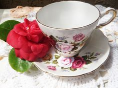 Mother's Day Regency English Bone China Cup and Saucer