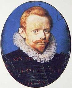 Said to be Francis Drake. It is miraculous how people change their entire appearance when they are said to be so-and-so, and can morph from being a red headed young youth into a robust ruddy dark-haired old man.