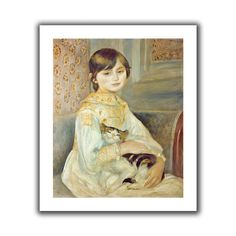 'Julie Manet with Cat' by Pierre Renoir Canvas Poster