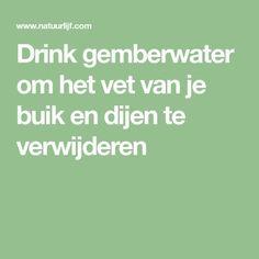 Drink gemberwater om het vet van je buik en dijen te verwijderen Healthy Drinks, Healthy Tips, Healthy Smoothies, Healthy Foods, Body Hacks, Atkins Diet, Smoothie Drinks, Natural Medicine, Healthy Weight Loss