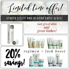***LIMITED SPECIAL OFFER*** (Just in time for Valentine's Day!!! wink ♥)  Pair any of Rodan + Fields® clinically tested Regimens with our Lash Boost™ serum, and you've got a winning combination: RADIANT skin and FABULOUS lashes/brows!!! ♥  Beginning TODAY, you can get a regimen + lash boost bundle for a savings of 20%! Preferred customers will get an additional 10% off + FREE shipping on top of that!