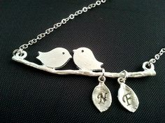 PERSONALIZED INITIAL A Couple of Songbird and Two by LaLaCrystal, $26.50