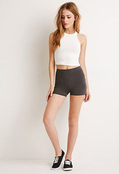 Stretch-Knit Shorts | Forever 21 - 2000116231